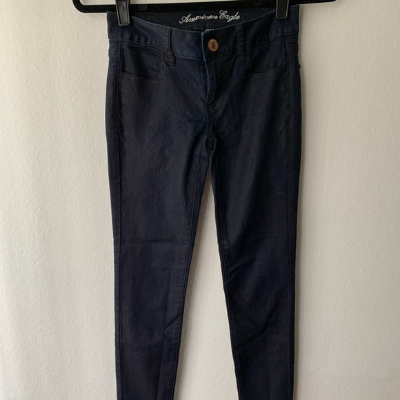 American Eagle Outfitters Denim - American Eagle Cropped Stretchy Shimmer Jogging